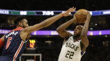 Bucks' Khris Middleton misses Thunder game due to sore neck