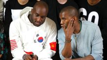 Virgil Abloh and Kanye West Share Emotional Moment in the Front Row at Louis Vuitton's Menswear Show