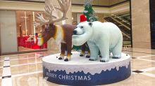 巨型戽斗動物超萌必拍 百貨耶誕裝置打卡新熱點