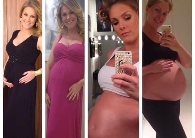 ec7c90027fb13 Ana Hickmann mostra a evolução de sua barriga durante a gravidez