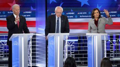 Debate updates: Candidates take on climate change