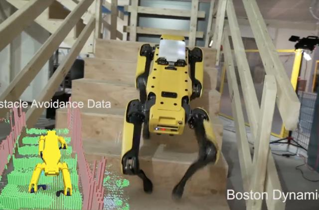 Boston Dynamics' four-legged robot can find its way around an office
