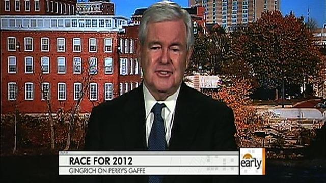 Newt, rising in polls, says race