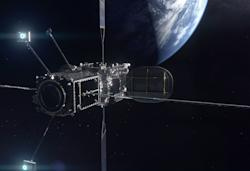 Northrop's servicing robot extends the life of an orbiting satellite by five years