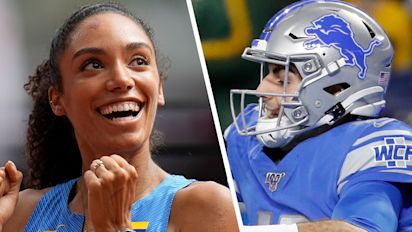 Lions QB goes crazy over wife at Olympics