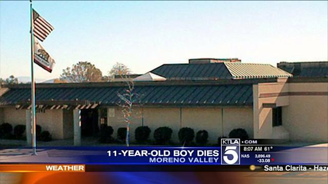 Boy, 11, Dies After Collapsing at School in Moreno Valley