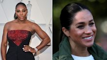 Serena Williams appears to send message of support to Meghan in Oscars speech