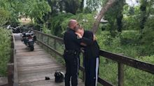 Police officer hugs missing man with autism in viral photo