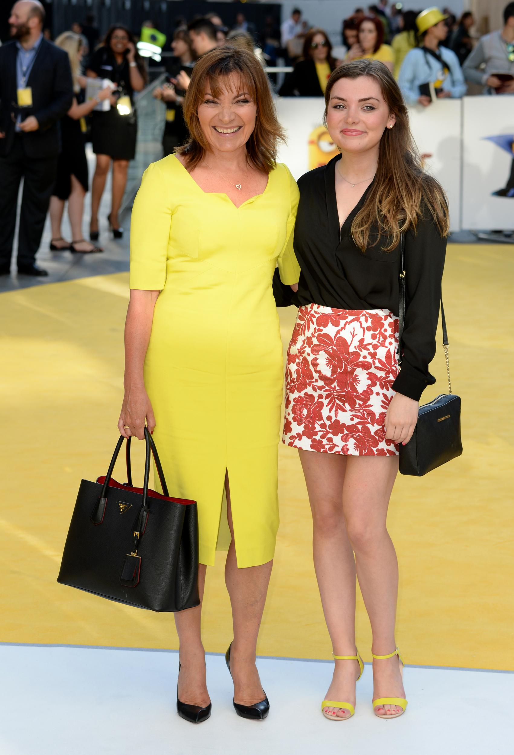 Lorraine Kelly and daughter Rosie attending the Minions UK Film Premiere held at the Odeon cinema Leicester Square, London(Mandatory Credit: DOUG PETERS/ EMPICS Entertainment)