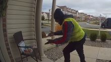 Delivery Driver Gets Excited Over Christmas Treats