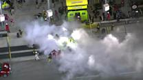 Menard's day ends in an explosion
