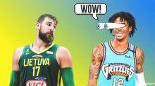 Ja Morant's 4-Word Reaction To Jonas Valanciunas' Big Game With Lithuania