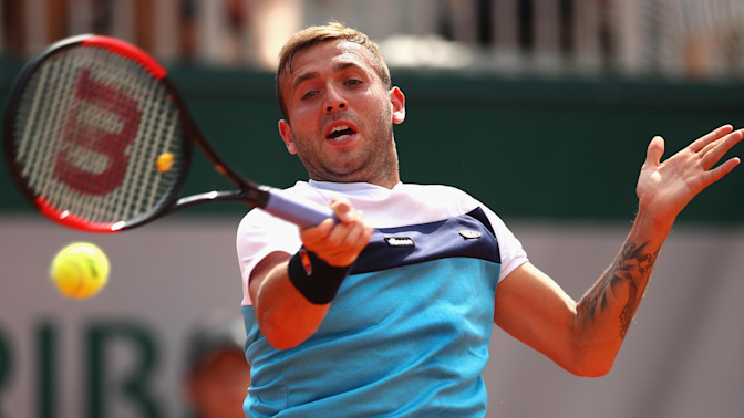 French Open 2017: Dan Evans puts up fight before losing to Tommy Robredo