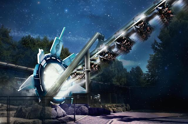 Alton Towers to open 'Galactica' VR roller coaster in April