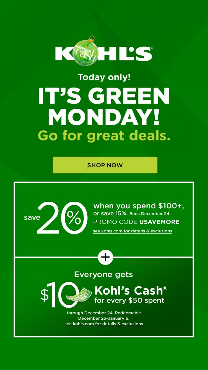 It's Green Monday!