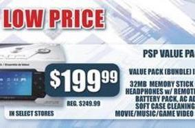PSP gets new low price: $199 for Value Pack [Update 1]