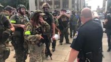 Dueling Armed Militias Congregate in Louisville