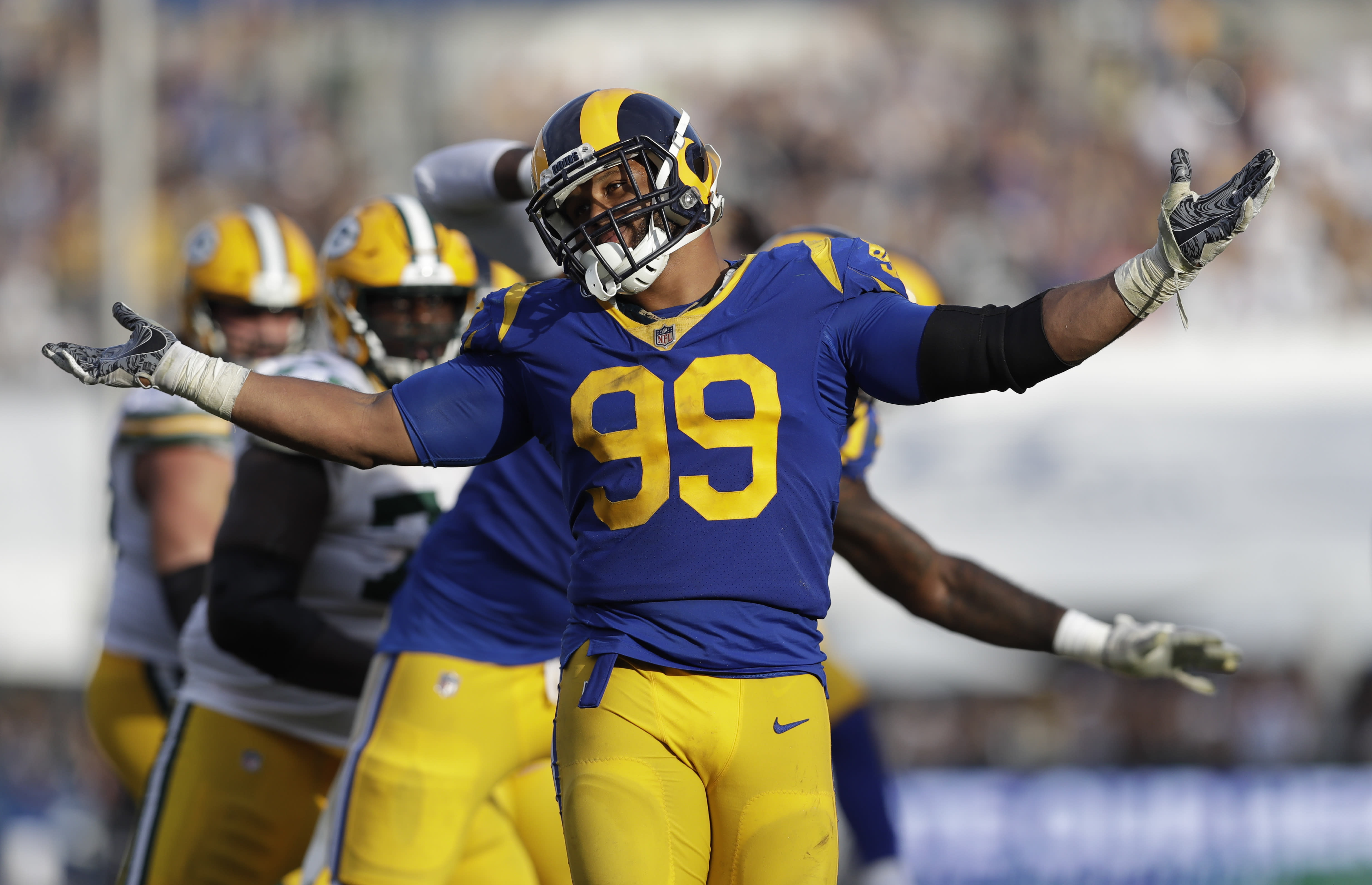 6e339d1e4 Saints player on Rams' Aaron Donald: 'He's probably the best DT I've ever  watched'