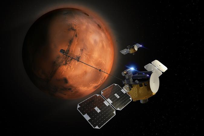 Rocket Lab Photon spacecraft conducting science in NASA ESCAPADE Mars mission