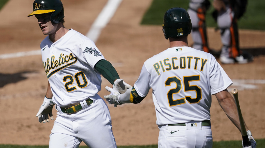 Athletics clinch first AL West title since 2013