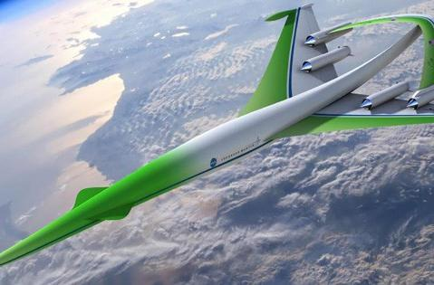 Supersonic Green Machine sends greetings from the future