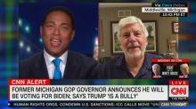 Former GOP governor leaves Don Lemon speechless with endorsement of Biden