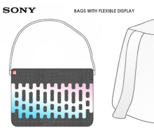 A backpack with a flexible screen? Sure, Sony, why not