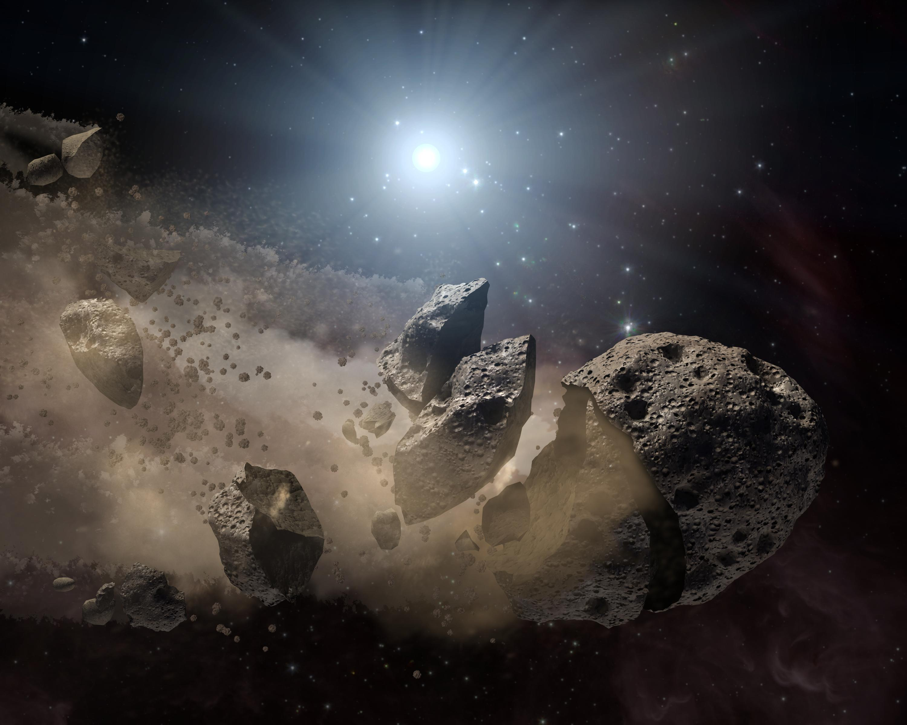 the asteroids in space - HD 3000×2400