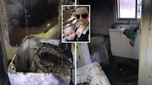 'I left for 10 minutes': Family homeless after washing machine bursts into flames