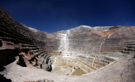 FILE PHOTO: An open pit at Barrick Gold Corp's Veladero gold mine is seen in Argentina's San Juan province
