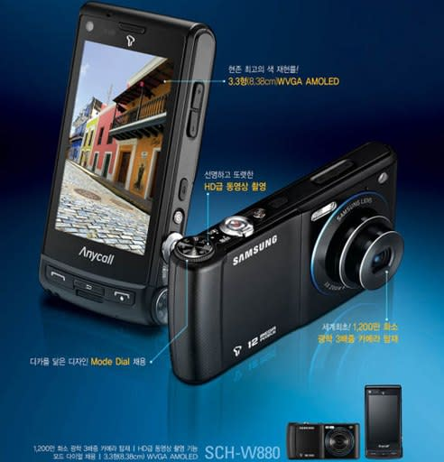Samsung's SCH-W880 12 megapixel phonecamera with 3x optical zoom