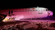 Air Canada flight hit power lines, antennae array before crash landing