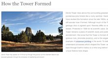 Fact Check: Devil's Tower National Monument was formed by magma; tree claim is false