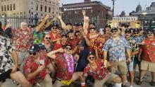 45 guys dressed up as 'Magnum P.I.' got booted out of the Tigers game