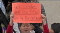 Save our school supporters attend SRC meeting