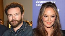 Leah Remini attends Danny Masterson's arraignment on rape charges to support accusers
