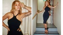 Rita Ora stuns in tight fitting cut-out frock in Sydney