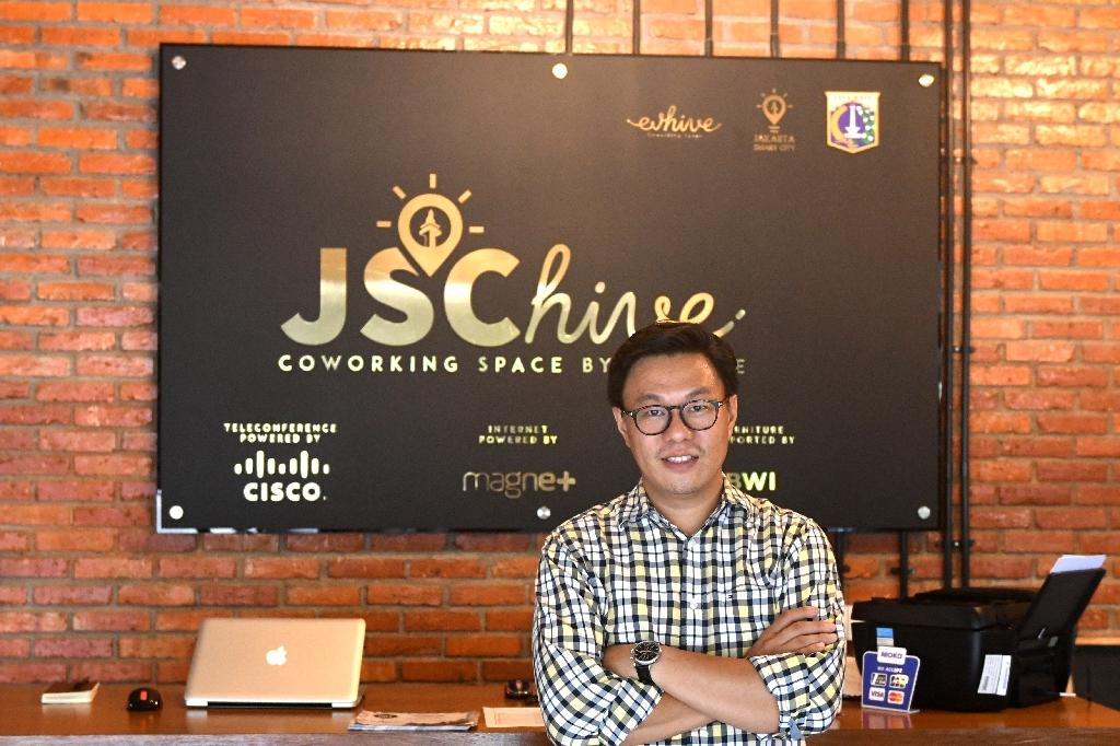 Willson Cuaca,'s venture capital firm East Ventures specialises in early-stage investments. (AFP Photo/GOH Chai Hin)
