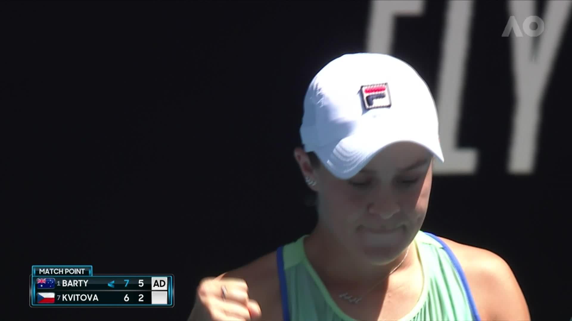 Australian Open - Best of Barty v Kvitova [Video]
