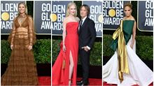 Cut-out tops and thigh-high slits dominate Golden Globes red carpet