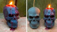 This Creepy Skull Candle 'Bleeds' as It Melts, So It Might Give You Nightmares