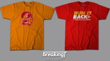 Need a unique game day outfit for Super Bowl LV? Shop our favorite Chiefs and Buccaneers shirts at BreakingT