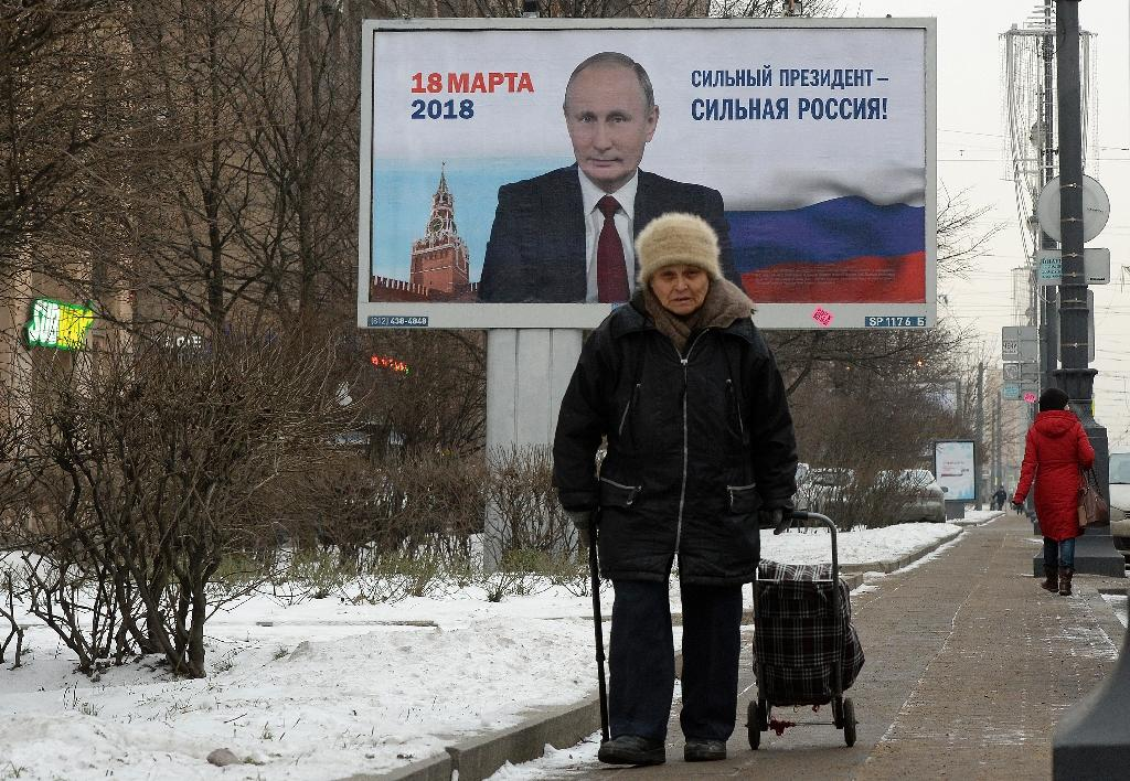Despite campaign promises when Putin returned to the Kremlin in 2012 after four years as prime minister, his last term has seen a drop in living standards and increasing isolation on the world stage (AFP Photo/Olga MALTSEVA)