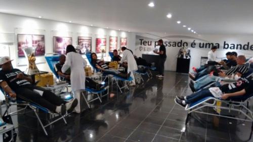 Corinthians faz campanha de doação de sangue antes da final contra Ponte