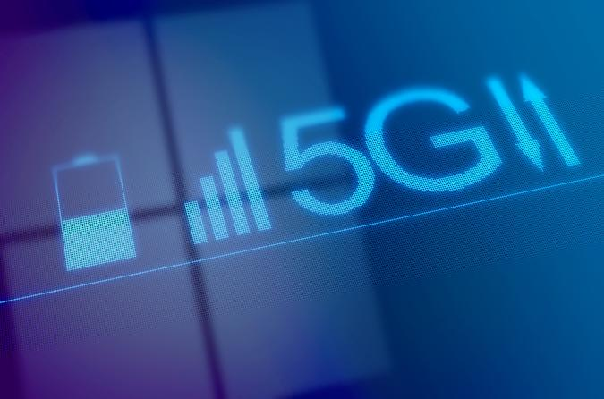 Conceptual illustration representing the new 5G mobile data network. Some have proposed that the new fifth generation network poses a health risk from radiation levels, which could lead to cancer and other morbidities.