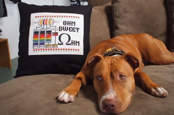 Keep your bands straight with Adafruit's Ohm Sweet Ohm cross-stitch kit (video)