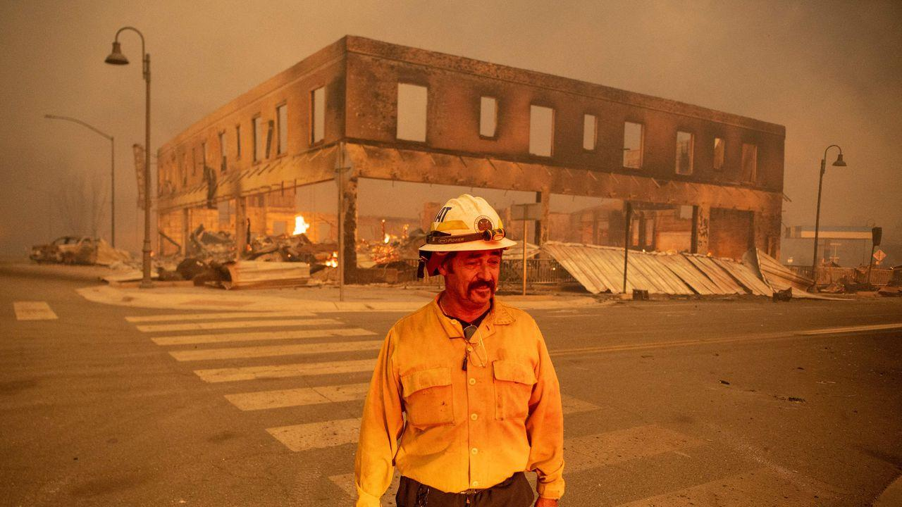 Massive California blaze levels town, threatens others as it burns out of control