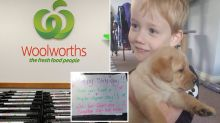Woolworths worker's birthday surprise for boy leaves mum in tears