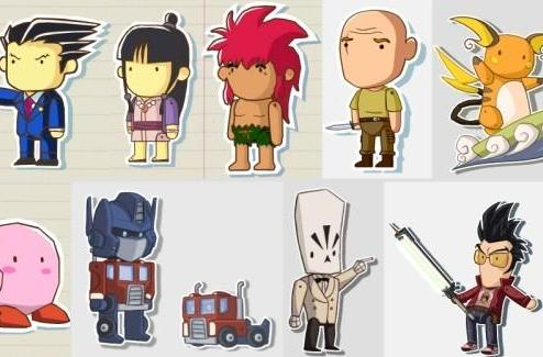 Fans recreate favorite characters in Scribblenauts style