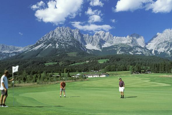 "<p> 	Pack your 9 iron and head for pretty Ellmau, between the Kitzbuheler Alps and the Wild Emperor mountains in Austria. The Wilder Kaiser golf course here is your destination where you can enjoy a round in the shadow of the mountains. <a href=""http://www.inghams.co.uk"" target=""_blank"">Inghams</a> has seven nights half board at the four-star Hotel Hochfilzer from £328 per person, including flights and resort transfers.</p>"